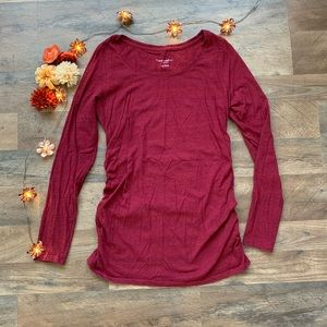 Liz Lange Maternity Red Top Small